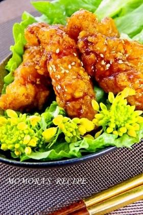 鶏胸肉で簡単手羽風揚げない甘辛照焼チキン