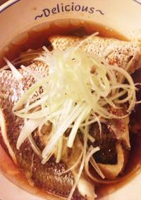 鯛の蒸し物台湾風〜清蒸鮮魚