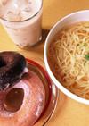 簡単!汁そば( ´3`)ミスド風 ランチ