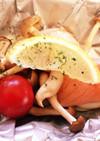 染み込み具材の☆鮭とシメジのホイル焼き