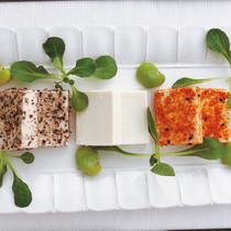 シンプル塩漬け豆腐3種