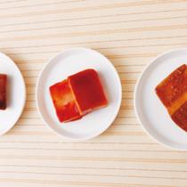 しっかりタレ漬け豆腐3種