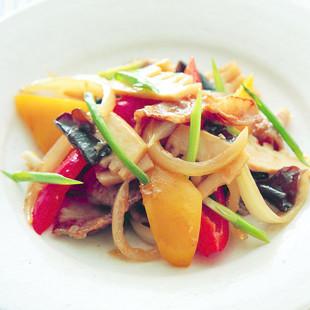 カリカリ豚バラの肉野菜炒め