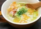 鶏ガラで。具だくさん野菜スープ