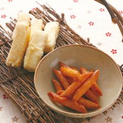 フライド豆腐とペンネの詰め揚げ