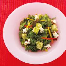 お豆腐のグリーンサラダ