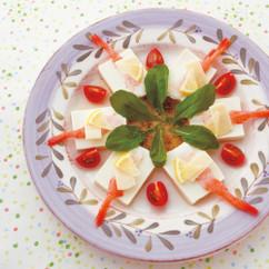 甘エビと豆腐のカルパッチョ風