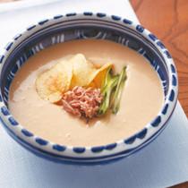 ピーナツバターとみその豆腐スープ