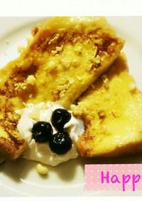 じゅわっと*朝食に♪簡単フレンチトースト