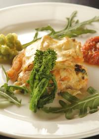 魚介と野菜のラザーニェ