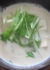簡単すぎるスープ 豆乳スープ