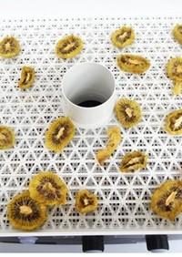 ドライフルーツメーカーで作る乾燥キウイ