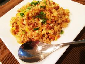 生姜香る納豆とたくあんのチャーハン
