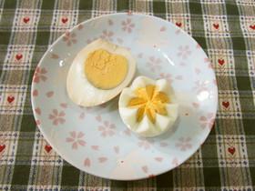 お弁当に♪しょう油卵&花形塩卵