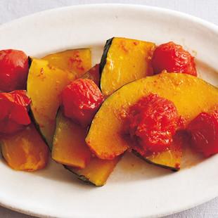 かぼちゃとミニトマトのバター煮