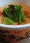 カップ麺の坦々麺風簡単アレンジ