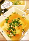 麺つゆで卵スープ