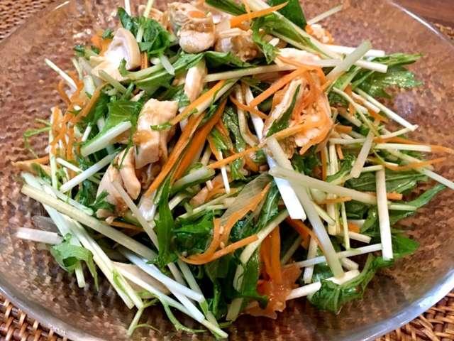 水菜 サラダ レシピ