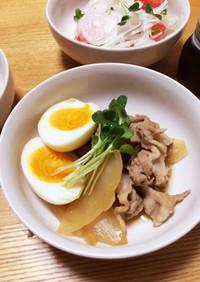 豚こまとゆで卵のすき煮(覚書)