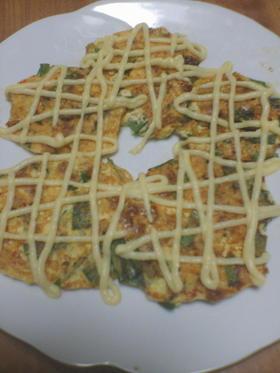 粉なしでふわふわ☆豆腐と納豆のチヂミ