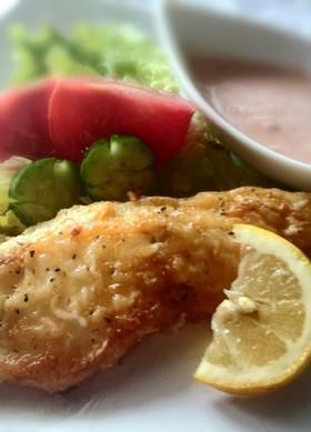 簡単白身魚のピカタ