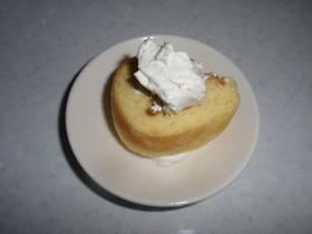 簡単ロールケーキ(型:ティッシュ箱)