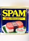 スパムおにぎり  手が汚れず缶を使って!
