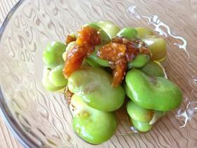 空豆のフルーツサラダ
