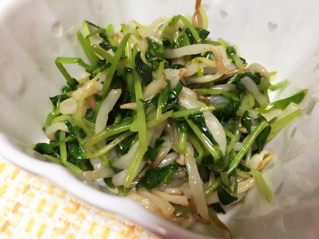 【簡単副菜】レンジで!もやしと豆苗ナムル