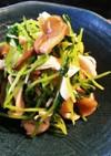ささみと搾菜の和え物♡with豆苗