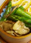 お弁当に☆アスパラと舞茸のバターソテー♪