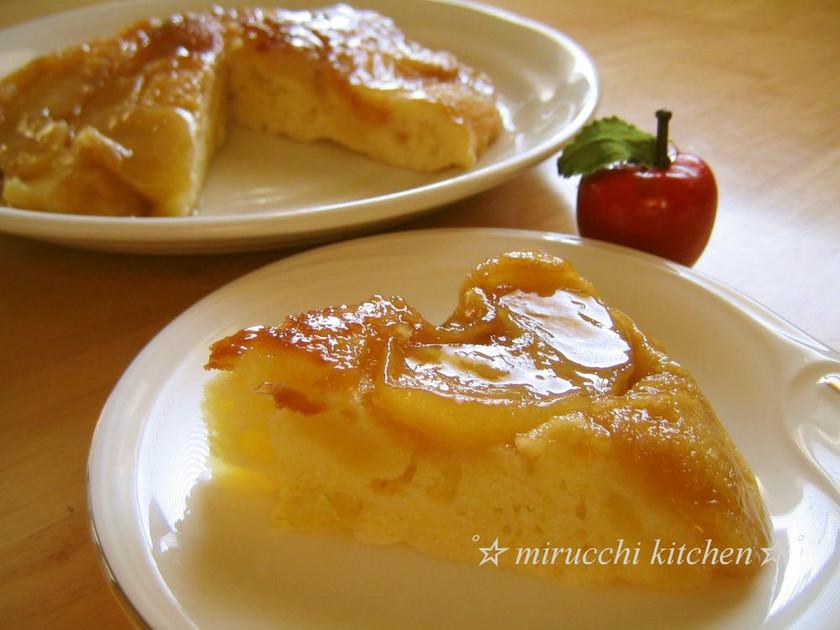 フライパンで♪ キャラメルアップルケーキ
