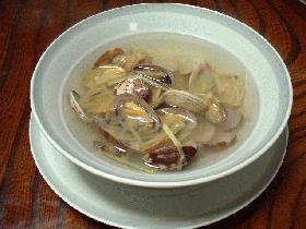 あさりと生姜のスープ