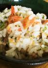 朝食にお弁当に♪鮭とマヨ青のり混ぜご飯