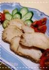 本格的なタレにつけた鶏のチャーシュー