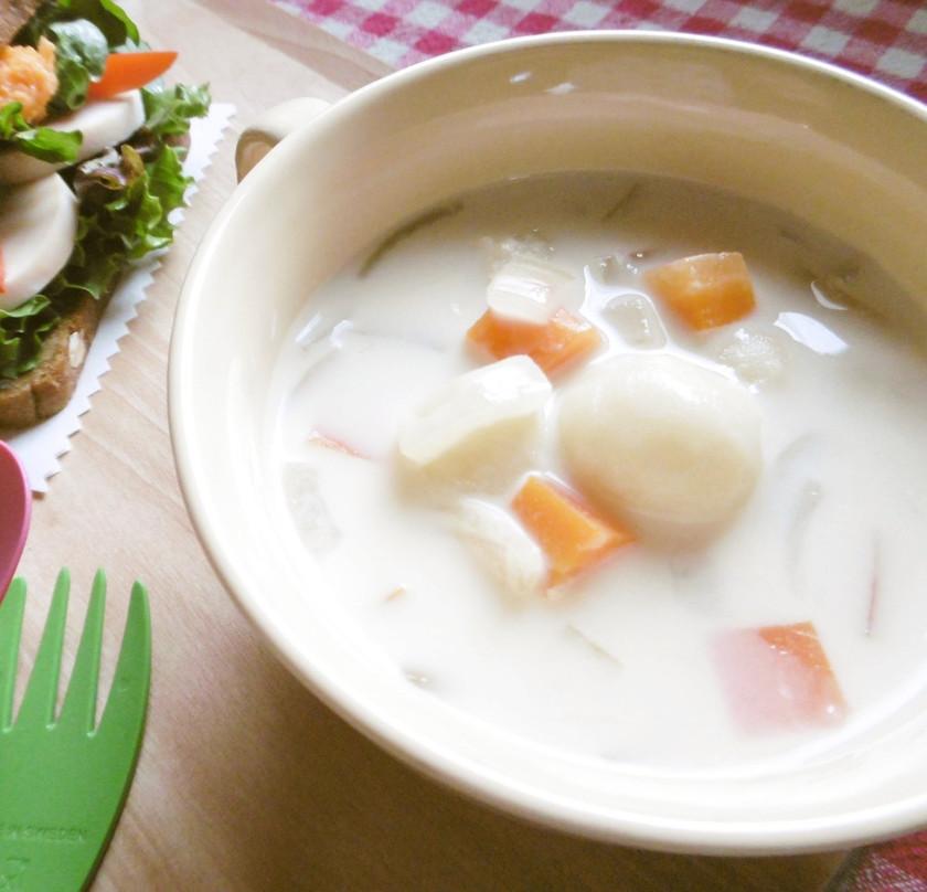 豆乳クリームスープ カフェ風ヘルシー
