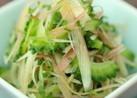 ゴーヤと香味野菜のさっぱり塩もみ