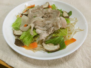 レンジで簡単温野菜&お肉の写真