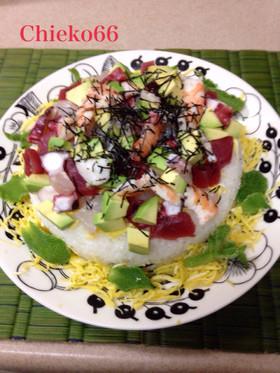 海鮮デコちらし寿司