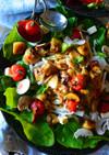 デリ風山芋とトマト&マッシュルームソテー
