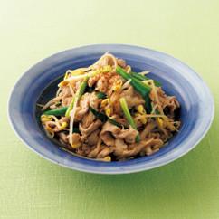 豚肉と大豆もやしの韓国風さっと煮