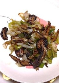 食品乾燥機で作る干し椎茸のソテー