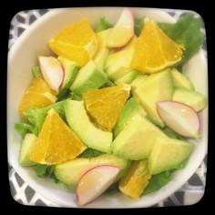 アボカドとオレンジのサラダ。・*