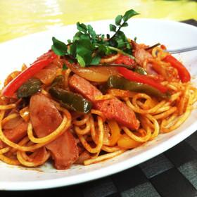 スパゲッティは♡ナポリタン隠し味は醤油