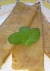 ココナッツオイルの、ちんぴん風クレープ