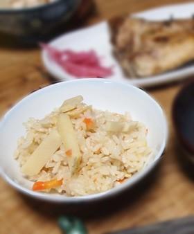 ごはんもの:竹の子と鶏肉の炊き込みご飯