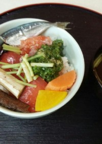血管プラークダイエット食264(山海丼)