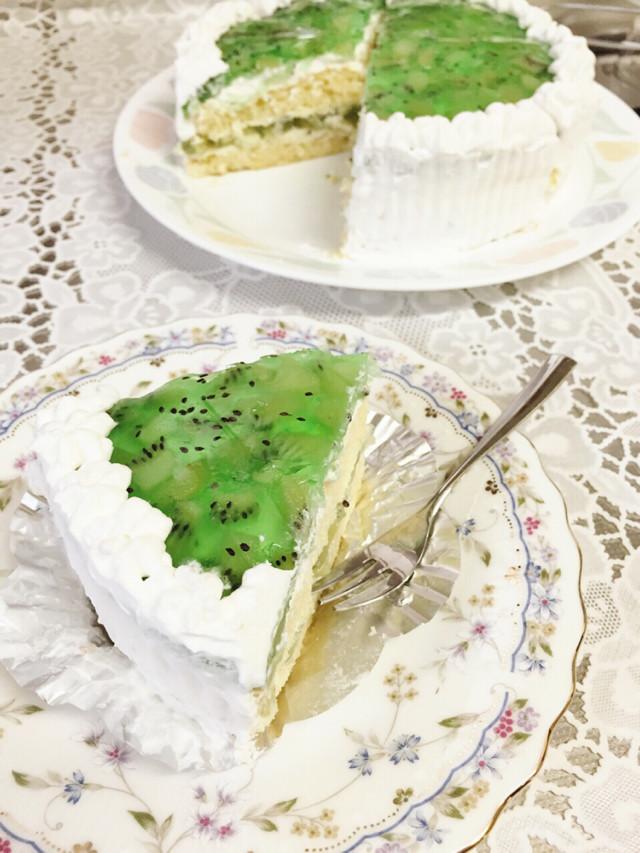 手作り★キウイゼリーのダブルケーキ★