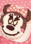 誕生日に♡ミニーちゃんケーキ
