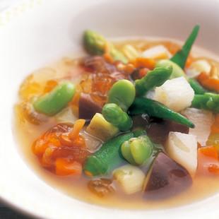 田舎風 野菜のブイヨン仕立て